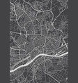 frankfurt am main city plan detailed map vector image vector image