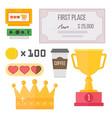 gaming kiber sport reward competition vector image