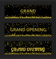 grand opening banners vector image vector image