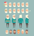 grandpa wearing sweater set vector image vector image