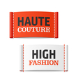 Haute Couture and High Fashion clothing labels vector image vector image