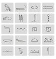icons with Egyptian hieroglyphs vector image vector image
