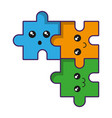 jigsaw puzzles icon vector image vector image
