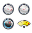 love heart indicator measuring icon set vector image vector image