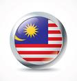 Malaysia flag button vector image