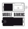 Mobile Banking Logo Design vector image vector image