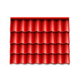 modern rocoverings red corrugated rotile vector image vector image