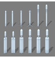 Modern space rocket vector image vector image
