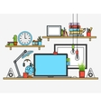 modern workplace Creative office vector image vector image