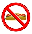 No Hot Dog Sign Isolated vector image