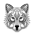 ornamental Wolf ethnic zentangled mascot vector image