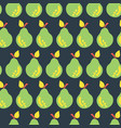 pear seamless pattern background black vector image vector image