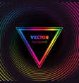 rainbow halftone dotted vortex triangle background vector image