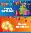 realistic festive accessories banners vector image vector image