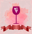 Red wine tasting card with a red glass vector image vector image