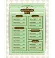 restaurant menu template with mint green vector image vector image
