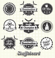 Retro Shuffleboard Labels and Icons vector image vector image