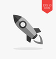 Rocket icon Flat design gray color symbol Modern vector image