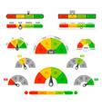 scoring indicators goods gauge speedometers vector image vector image