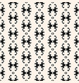 Seamless pattern in ethnic style black and white vector image
