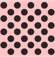 seamless polka dot pattern black dots on pink vector image vector image