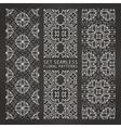 set arabic seamless patterns vector image vector image
