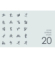 Set of extreme sports icons vector image