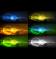 set of techno earth planet concept backgrounds vector image