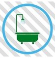 Shower Bath Icon vector image