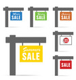Signboard of sale set