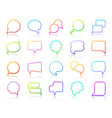 speech bubble simple color line icons set vector image vector image