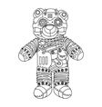 Steampunk style bear coloring book vector image