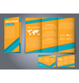 Template triple folding brochures vector image vector image