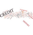 the aftermath of a poor credit history text vector image vector image
