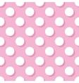 Tile pattern white polka dots on pink background vector image vector image