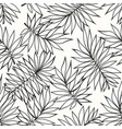 tropical branches seamless background for the vector image vector image