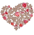 Valentine heart in floral style isolated on vector | Price: 1 Credit (USD $1)
