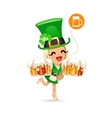 Waitress on the Patricks Day Party vector image vector image