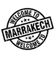 welcome to marrakech black stamp vector image vector image