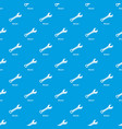 wrench pattern seamless blue vector image
