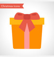 yellow gift box with red ribbon vector image