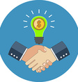 Business cooperation concept Flat design Icon in vector image