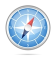 Modern compass icon vector image