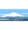 panorama of fujiyama vector image
