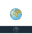 earth layered for logo and other designs vector image