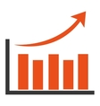orange bar graph vector image