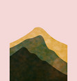 abstract mountain landscape minimalist design vector image vector image