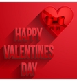Background Heart Happy Valentines Day Card vector image vector image