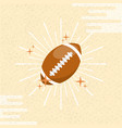 ball sport american football sunburst color vector image vector image