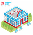 Barbershop building vector image